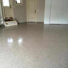 residential garage flake floor